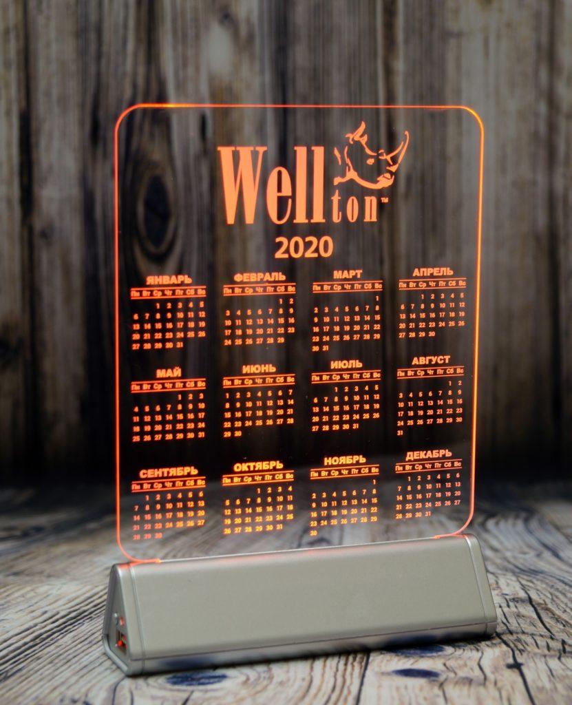 Акрилайт Питер заказать оптом цена производителя настольный бизнес-сувенир с подсветкой светящийся логотип компании корпоративный подарок велтон