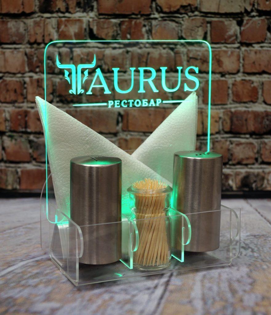 Акрилайт цена Екб настольный бизнес-сувенир с подсветкой светящийся логотип компании корпоративный подарок Таурус