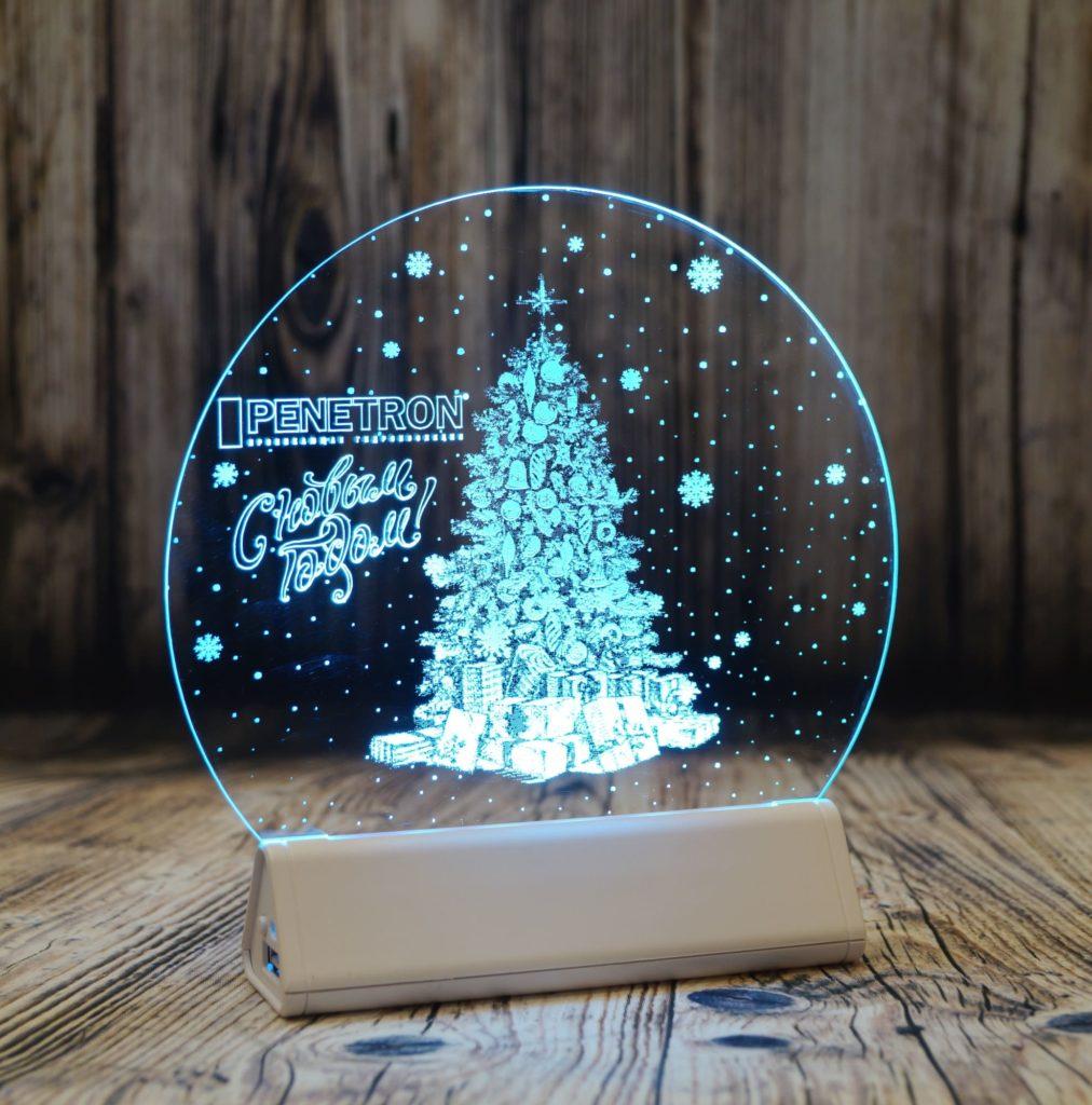 Акрилайт Питер цена оптом настольный бизнес-сувенир с подсветкой светящийся логотип компании корпоративный подарок