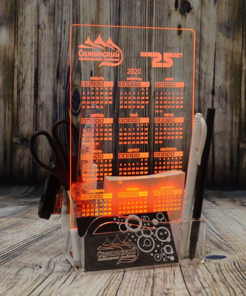 Цена производитель Екб акрилайты настольный бизнес-сувенир с подсветкой светящийся логотип компании корпоративный подарок календарь
