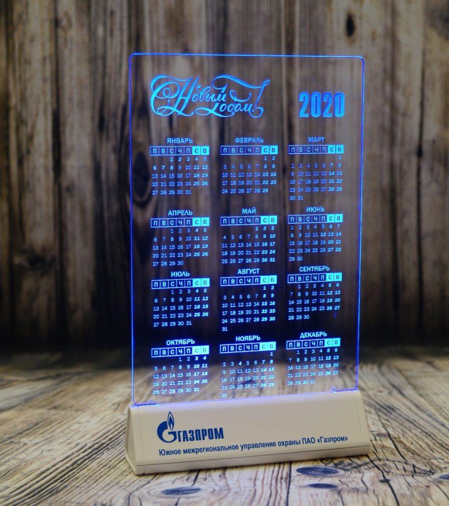 Екб акрилайт цена настольный бизнес-сувенир с подсветкой светящийся логотип компании корпоративный подарок календарь