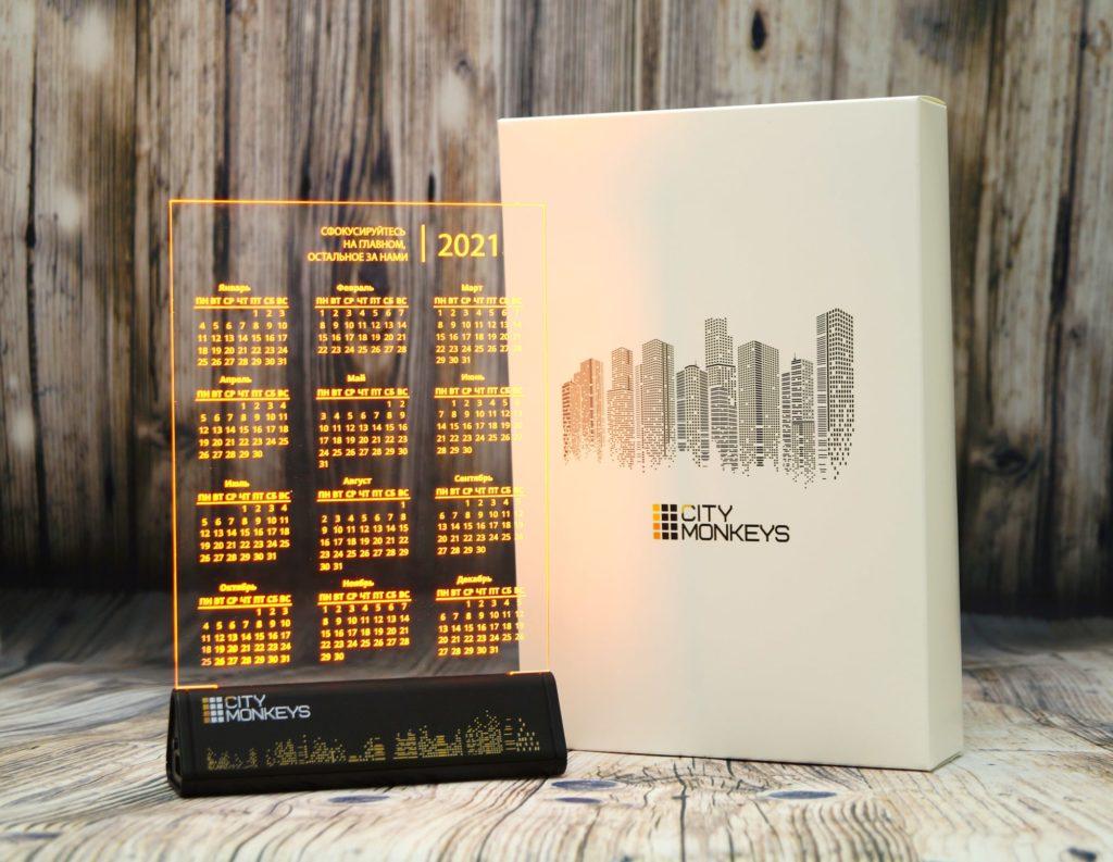 СВЕТОЗАР акрилайт сувенир с подсветкой логотипа светящийся лого бизнес сувенир настольный бизнес-сувенир с подсветкой светящийся логотип компании корпоративный подарок