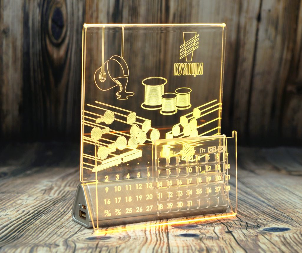 СВЕТОЗАР акрилайт логотип светящийся бизнес сувенир настольный повер банк с подсветкой настольный бизнес-сувенир с подсветкой светящийся логотип компании корпоративный подарок